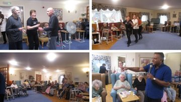 Birthday celebrations at Romford care home