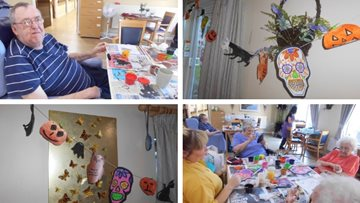 Arts and crafts take a terrifyingly good twist at Eccles care home
