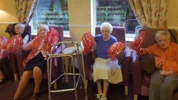 Beeches Care Centre enjoy armchair aerobics