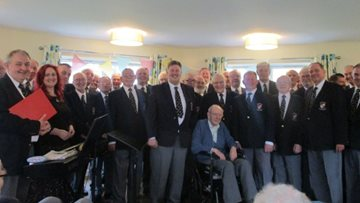 Male Choir delights at Aberpennar Court