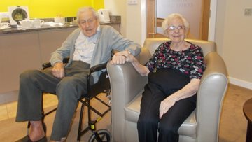 70th wedding anniversary celebrations at Garforth care home
