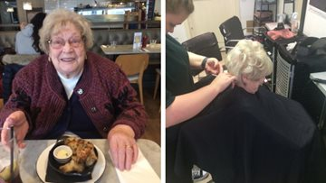 St Andrews care home Resident enjoys pampering and retail therapy day out