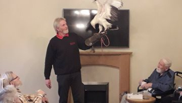 Falconry Display delights Residents at Clarendon Hall