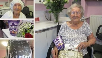 Romford care home Resident celebrates 105th birthday with special pamper day