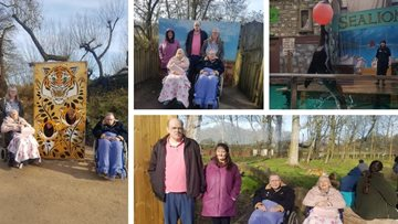 Hindley care home Residents visit Knowsley Safari Park