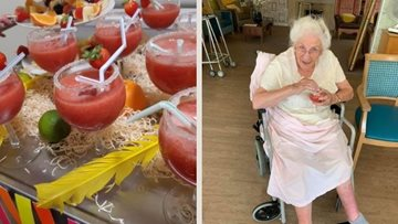 Moreton-in-Marsh care home Residents enjoy mocktail masterclass