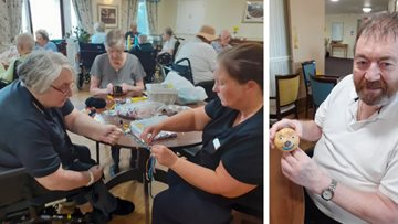 Spud-tacular creations at Stirling care home