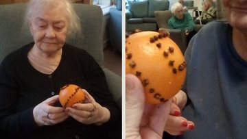 Residents enjoy Christmas crafts at Dukinfield care home