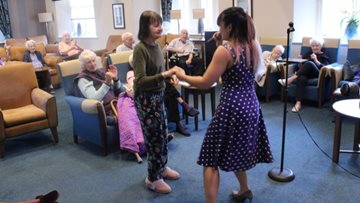 Residents enjoy sing-along at The Millbrook