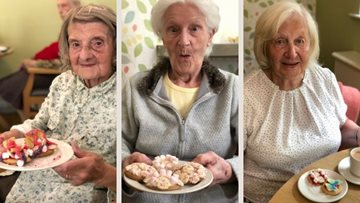 Biscuit decorating at West Derby care home