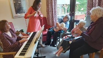 Sheffield care home alive with the sound of music