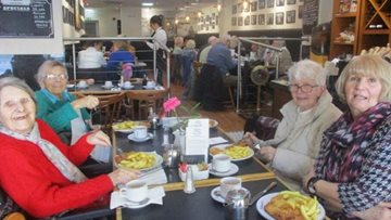 Peterlee care home Residents visit South Shields