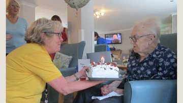 Birthday celebrations at Branston care home