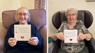 Falkirk care home Residents feeling the love as Valentine's Day nears