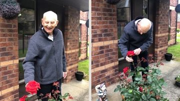 Kinnaird Manor care home Resident wins green finger award in HC-One gardening competition