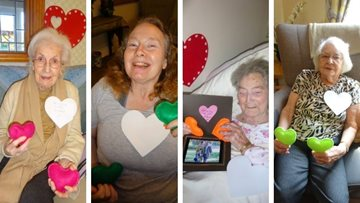 Grimsby care home share hearts of kindness