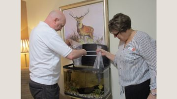 A tank load of fun at Inverness care home
