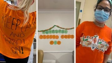 A fun carrot-themed party at Lancashire care home