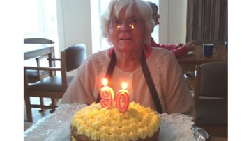 90 year-old Resident celebrates her 22nd birthday