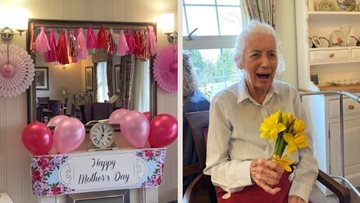 Mothering Sunday celebrations at Great Dunmow care home
