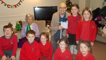 Local school children sing at Durham care home