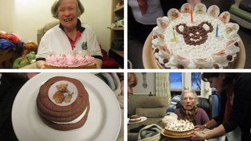 A duo of birthday celebrations at Belper care home