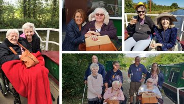 Salford care home Residents sail away on canal trip