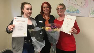 Colleagues celebrate Nursing Assistant qualifications at Norton Lees care home