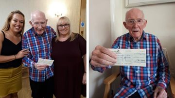 Larchwood Resident celebrates book sales raising £1000 for Essex Dementia Care