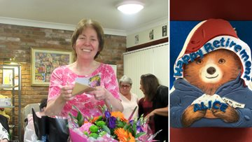 Loved Nurse enters retirement with a bang