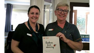 Kindness delivered at Bishop Auckland Care Home