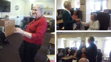 Residents enjoy live entertainment at Nottingham care home
