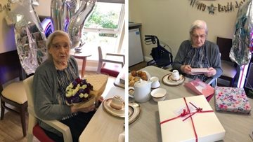 Westquarter care home Resident celebrates 102nd birthday