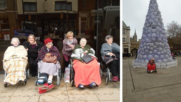 Christmas shopping trip for Upwood care home Residents