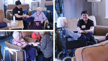 Residents enjoy therapeutic afternoon at Stalybridge care home