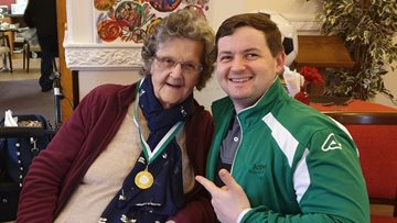Pendleton Court Resident delighted to receive Age Active Award
