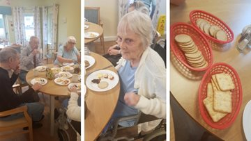 Residents at April Park enjoy cheese tasting afternoon