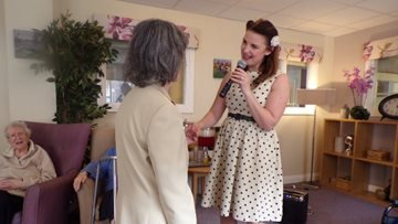 Vintage entertainment at Roker care home