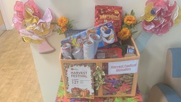 Kind donation as Prescot care home prepares for Harvest Festival