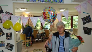 80th birthday celebrations at Sutton-in-Ashfield care home as Colleagues mark Volunteer's Week