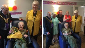Lord Mayor of Sheffield joins great great grandmother's 100th birthday celebrations