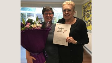 Dartford care home team member receives award for kindness