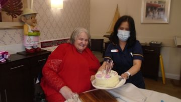 Stoke care home Resident celebrates 80th birthday in style