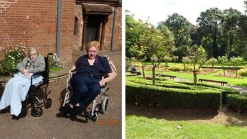 Oldham care home Residents enjoy trip to local park
