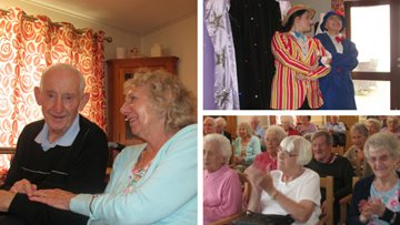Residents singalong to summer pantomime show