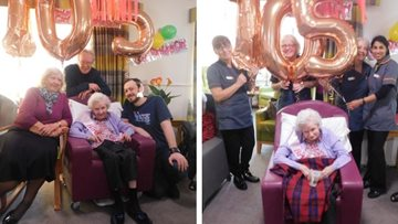 105th birthday celebrations at Wythenshawe care home