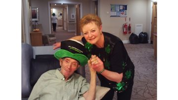 Residents enjoy a good Irish knee up for St Patrick's Day