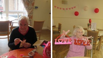 Valentine's Day celebrations at Dundee care home