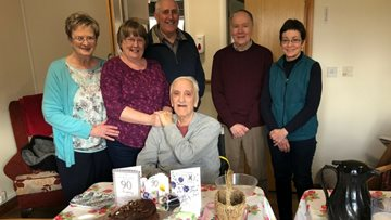 90th Birthday Celebrations for Meadowlands Resident