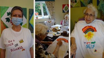 Grimsby care home Residents paint t-shirts for pride month